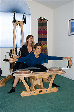 Gyrotonic System in use.